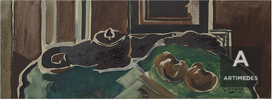 Georges Braque / Nature Morte A La Theiere (Fond Vert) - Front