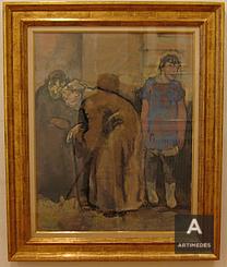 Maurice Barraud / Au Coin De La Rue, 1913