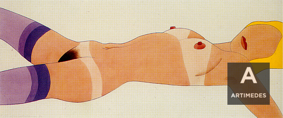 Tom Wesselmann / #12 Purple Stocking Blonde - Front