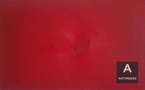 Turi Simeti / Two Red Ovals -
